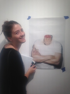 "Rachel with ""James Franco"" by Pilar Gallego"